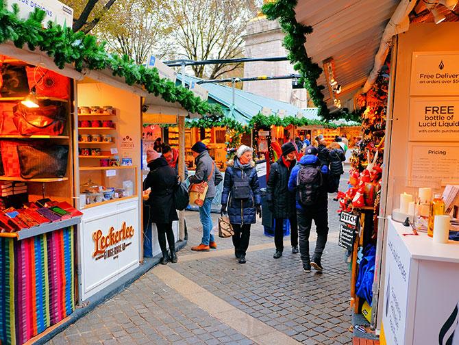 Weihnachtszeit in New York - Weihnachtsmarkt