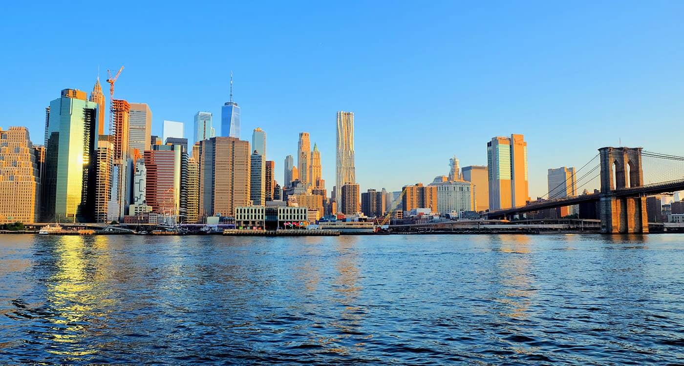 Brooklyn Bridge - Aussicht vom Brooklyn Bridge Park