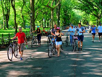 Central Park in New York - Fahrradfahren