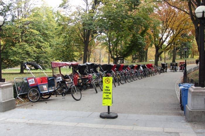 Central Park in New York - Fahrradrikscha