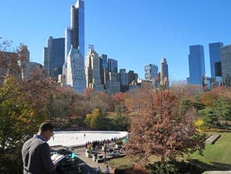 Central Park in New York - Schlittschuhlaufen