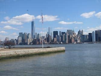 Ellis Island - Aussicht auf Manhattan