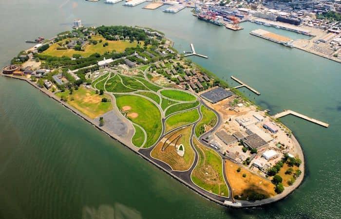 Governors Island New York - Luftaufnahme