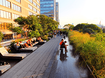 High Line Park in New York - Lounge Stühle