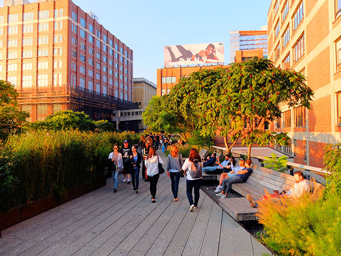 High Line Park in New York - Spaziergang