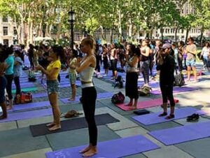 Kostenlos Yoga im Bryant Park