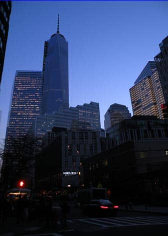 One World Trade Center - am Abend