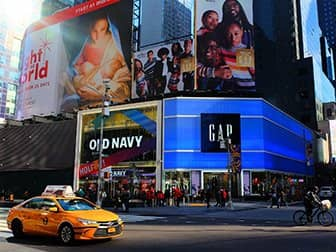 Times Square in New York - Old Navy & Gap