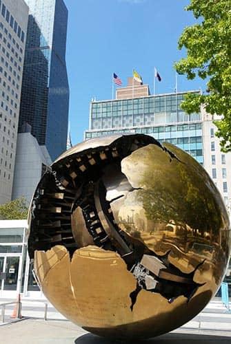 Vereinte Nationen in New York - Erdkugel