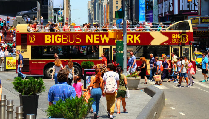 Big Bus in New York - Kreuzung Times Square