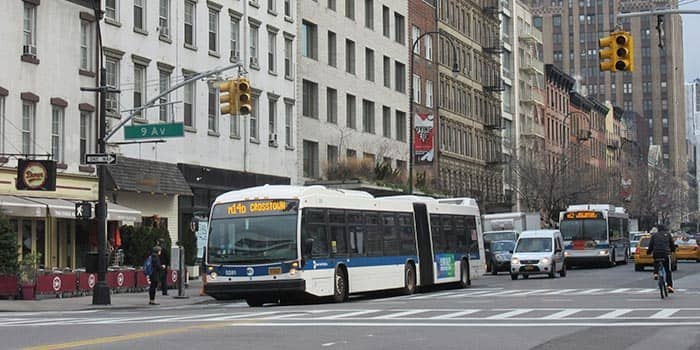 Bus in New York - Bus in der 9th Avenue