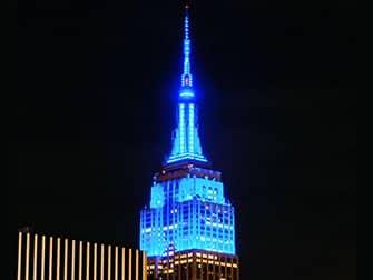 Empire State Building Tickets - Blaue Lichter