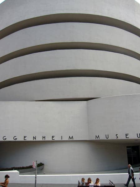 In the New York City Landmarks Preservation Commission voted unanimously to designate the Guggenheim Museum an official landmark. It is the youngest building ever to receive such recognition. The only real way to experience the rotunda is to move along the spiral.