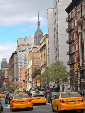 Taxis während dem Berufsverkehr in New York