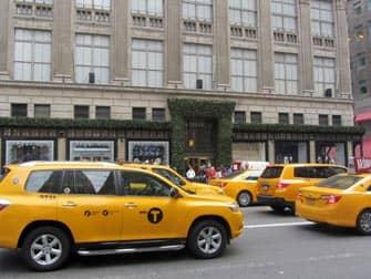 gelbe Taxis auf den Straßen von New York