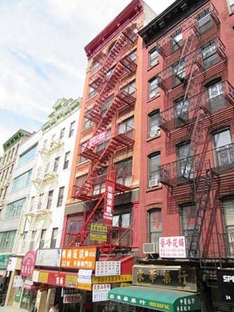 Chinatown in New York - Gebäude