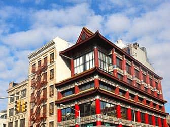 Chinatown in New York - Typisches Gebäude