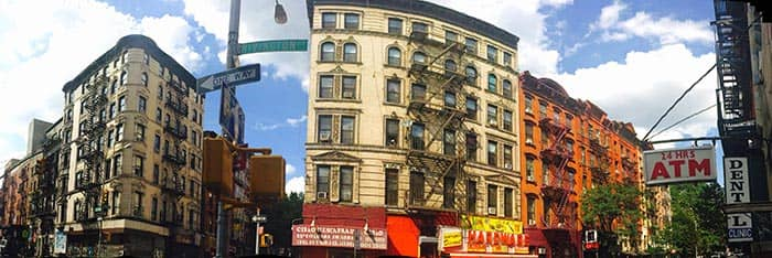 Lower East Side in New York - Panorama