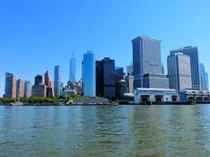 Lower Manhattan und der Financial District in New York