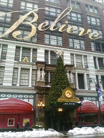 Macy's in New York Weihnachtsbaum