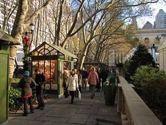 Märkte in New York - Bryant Park Weihnachtsmarkt