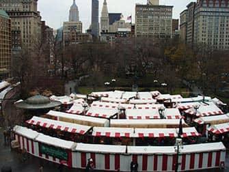Märkte in New York - Union Square Weihnachtsmarkt Stände