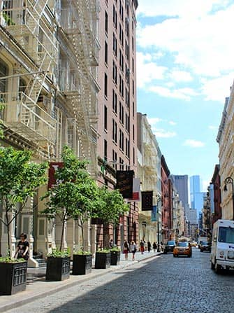SoHo in New York - Cobble Stone Street