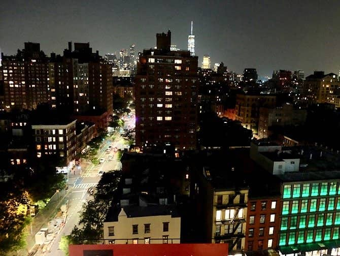 West Village New York - Ansicht bei Nacht