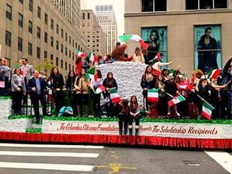 Columbus Day in New York - Studenten aus Italien