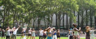 Tanzkurs im Bryant Park