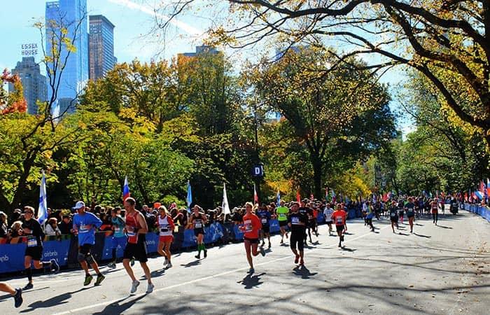 New York Marathon - Läufer im Central Park