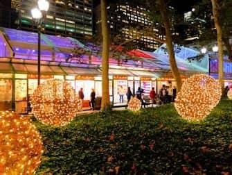 Weihnachtsmärkte in New York - Bryant Park Dekorationen