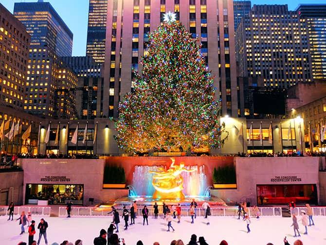 Schlittschuhlaufen in New York - Schlittschuhlaufen am Rockefeller Center