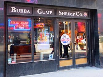 Themen Restaurants in NYC - Bubba Gump