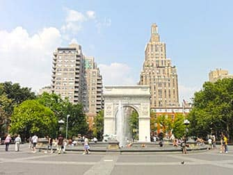 New York TV- und Kinodrehorte Tour - Washington Square Park