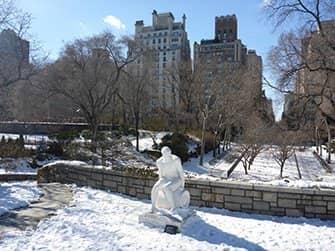 Little Germany in New York - Carl Schurz Park im Winter