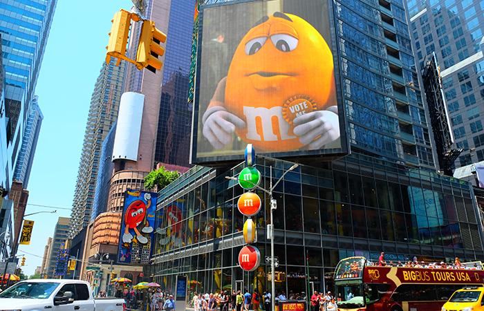 M&M's Store am Times Square - Außenansicht