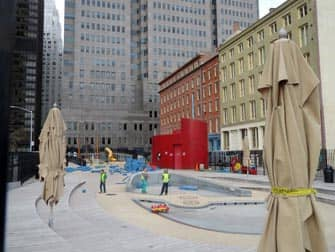 South Street Seaport Spielplatz in New York