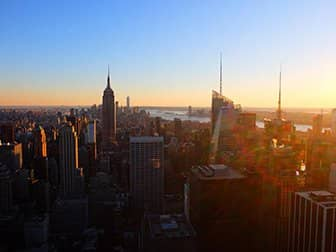 Neujahr in New York - Top of the Rock bei Sonnenuntergang