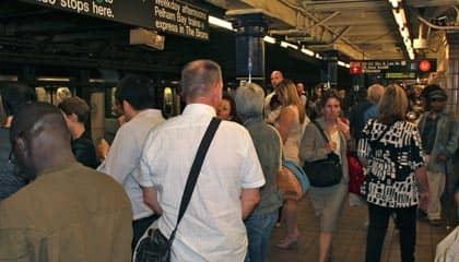 Subway Berufsverkehr New York