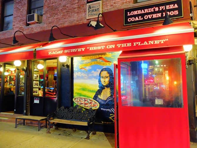Die beste Pizza in New York - Lombardi's Pizza