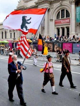 Die German-American Steuben-Parade in New York - Lederhosen