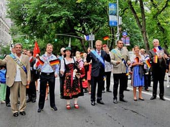 Oktoberfest in New York - Teilnehmer der Parade in New York
