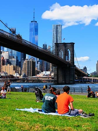 Brooklyn Bridge Park in New York - Entspannen