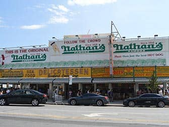 Coney Island in New York - Nathan's Famous