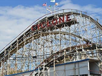 Pizza Tour in NYC - Cyclone in Coney Island