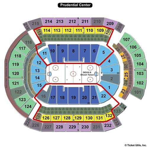 New Jersey Devils - Prudential Center Sitzplan