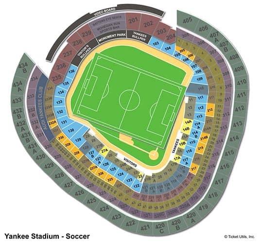 New York City FC - Yankee Stadium Sitzplan