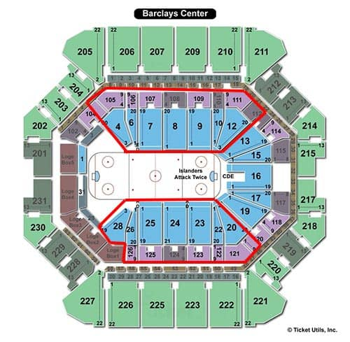 New York Islanders - Barclays Center Sitzplan