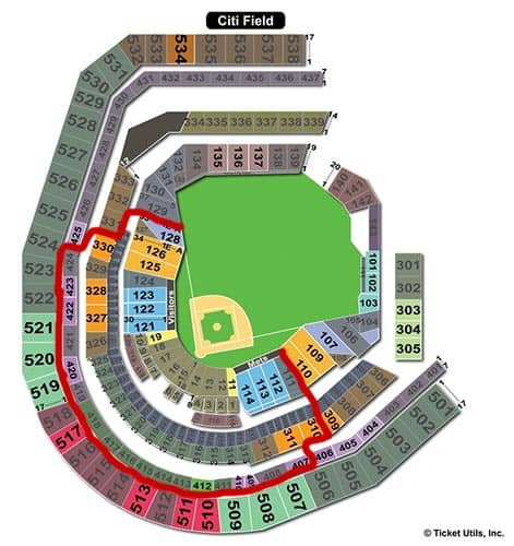 New York Mets - Citi Field Sitzplan